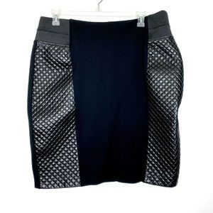 Eloquii Quilted Leather Skirt Black 20